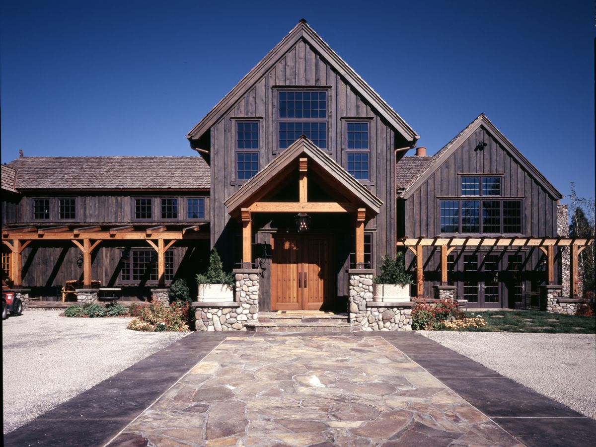 Brnr Mountain Rustic Residence Exterior Front