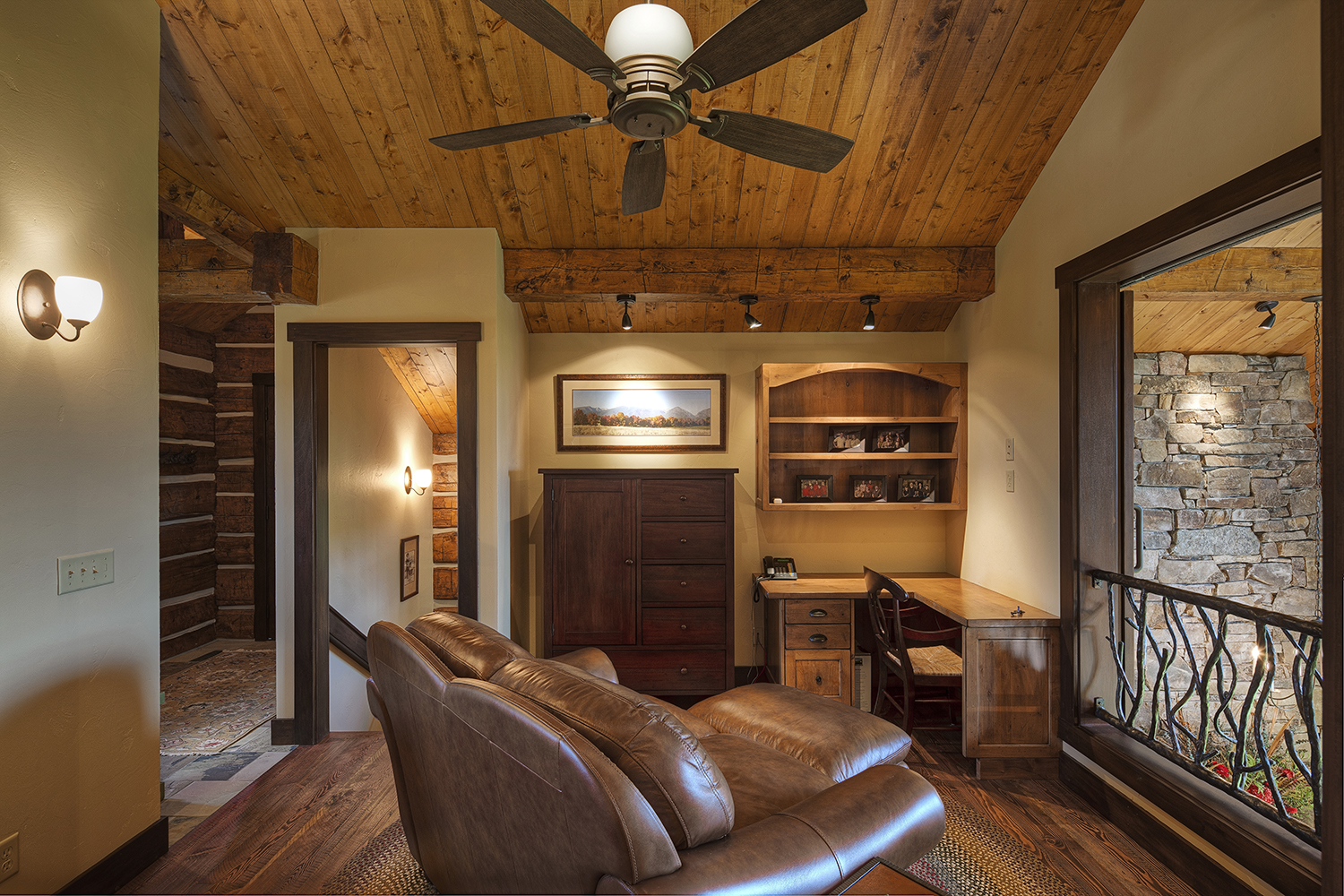Mountain Timber Frame Guest House Loft | Rocky Mountain Homes