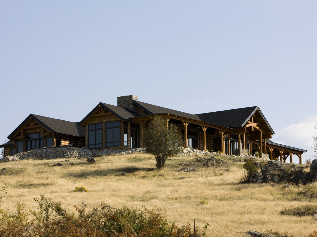 Schl Hybrid Log Home Exterior Side